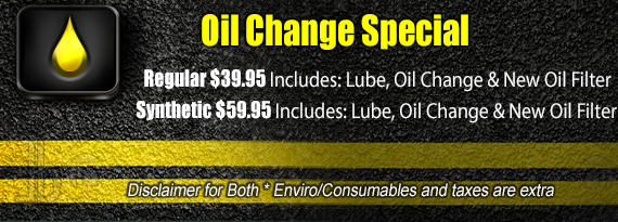 Oil Change Special >> More Than Tires Promotions